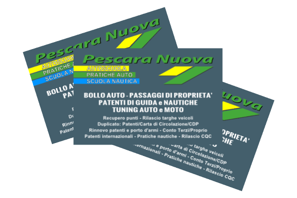 portfolio: Bigliettino da visita Pescara Nuova