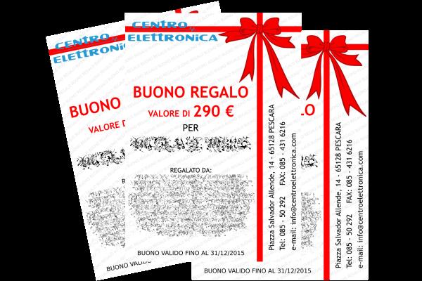 portfolio: Grafica Buono Regalo per Centro Elettronica s.a.s.