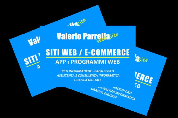 portfolio: Bigliettino da visita Valerio Parrella Web Site